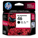 HP Black Ink Cartridge 46 [CZ637AA] - Tinta Printer HP